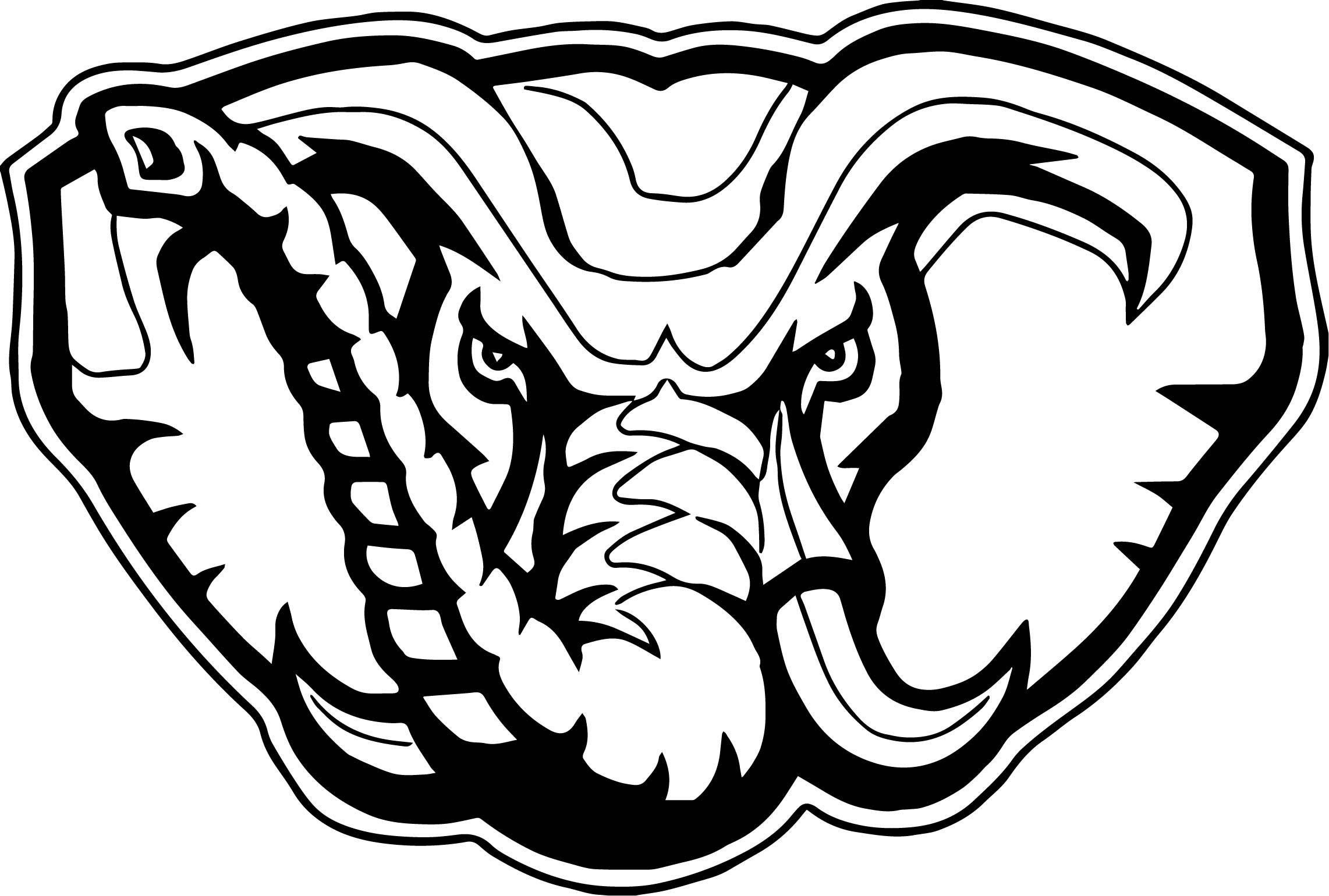 Elephant football logo crimson. Alabama clipart head