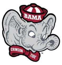 Retro crimson tide college. Alabama clipart head