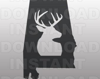 Alabama clipart head. Buck svg etsy deer