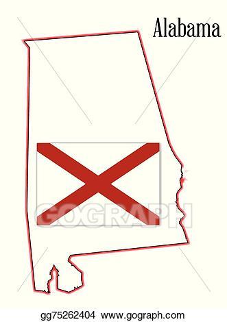 Alabama clipart illustration. Vector stock state flag
