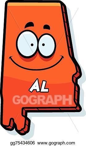 Eps cartoon vector . Alabama clipart illustration
