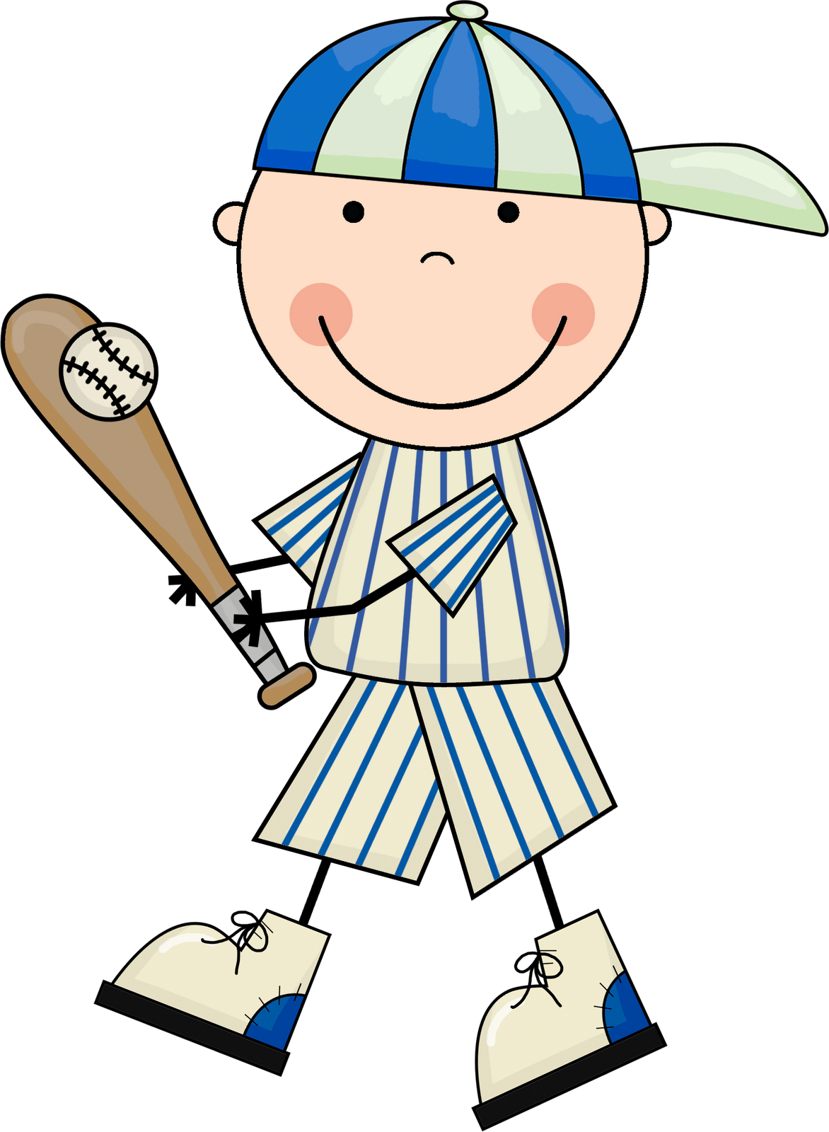 Baseball kids group borders. Fly clipart kid