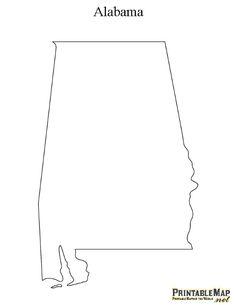 Alabama printable