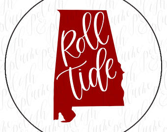 Alabama clipart roll tide. Gameday etsy designs crimson