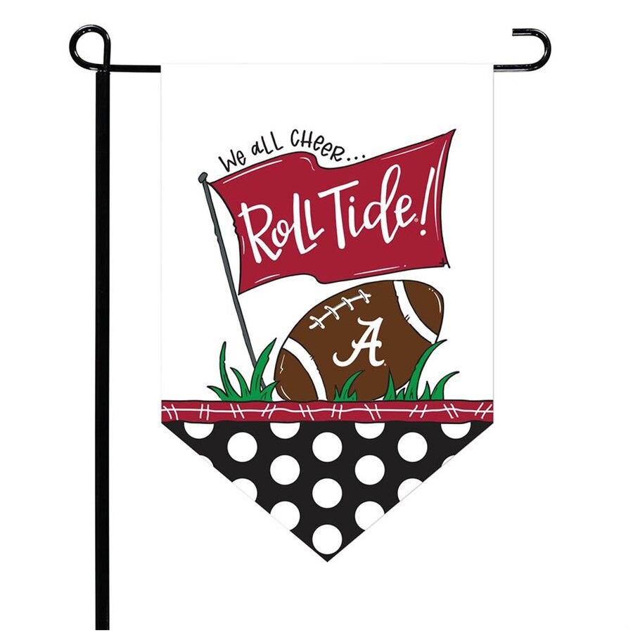 Alabama clipart roll tide. Crimson pointed garden flag