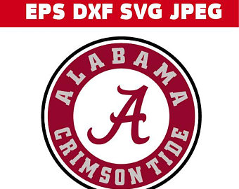 Alabama clipart sign. Logo etsy crimson tide