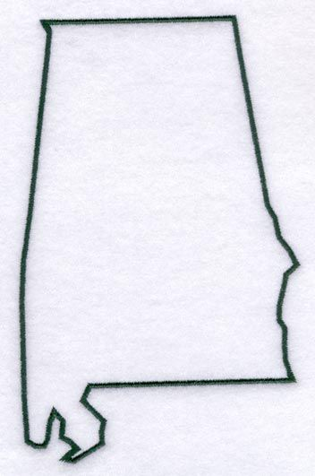 Alabama clipart template. State of the outline