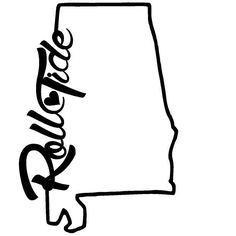 State of the outline. Alabama clipart template