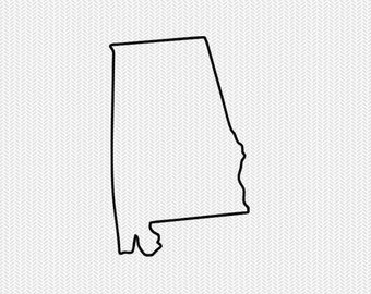 Alabama clipart template. Outline etsy