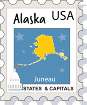 Fifty states illustrations graphics. Alaska clipart
