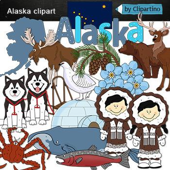 Alaska clipart animal alaska. Staty symbols clip art