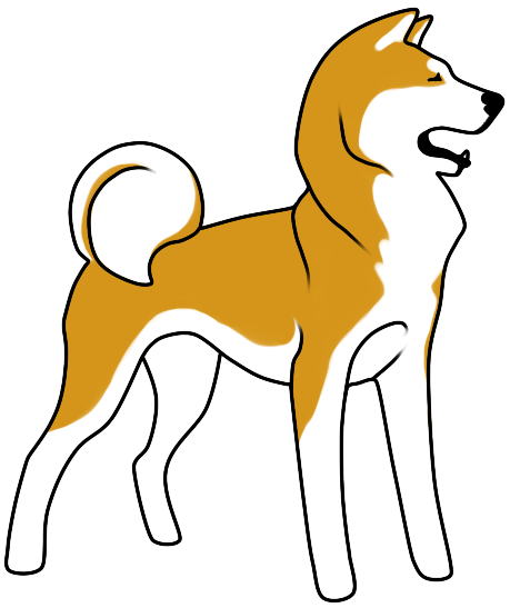 Alaska clipart animal alaska. Akita inu by spirit