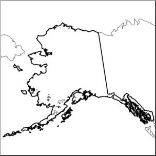 Alaska clipart black and white. Clip art us state