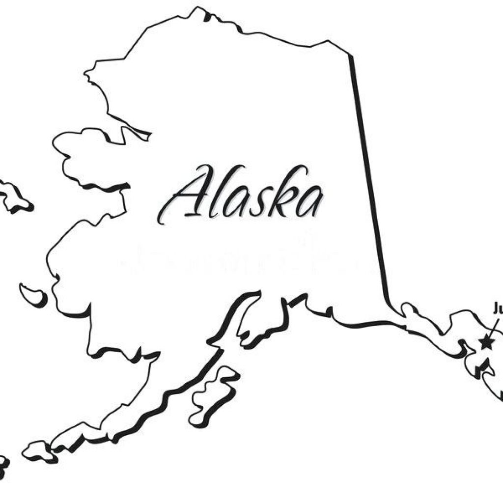 Alaska clipart black and white. State for free download