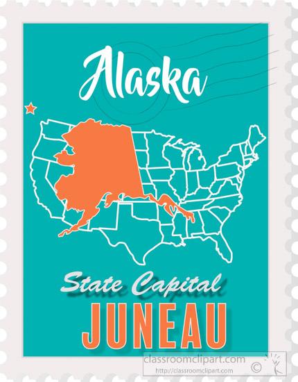 Alaska clipart capital. Fifty states illustrations graphics