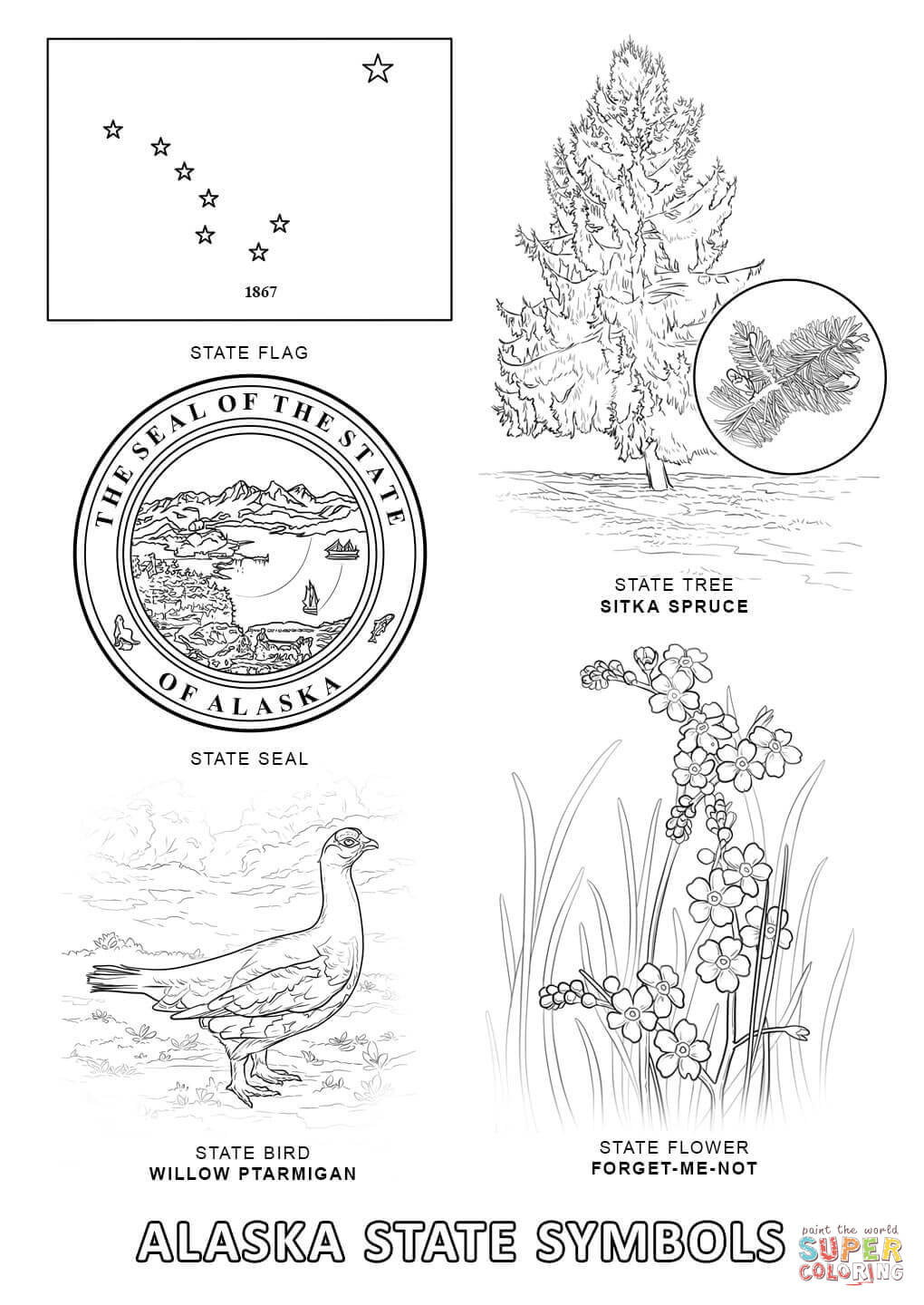 Free pages download clip. Alaska clipart coloring page