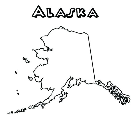 Pages maps outline for. Alaska clipart coloring page