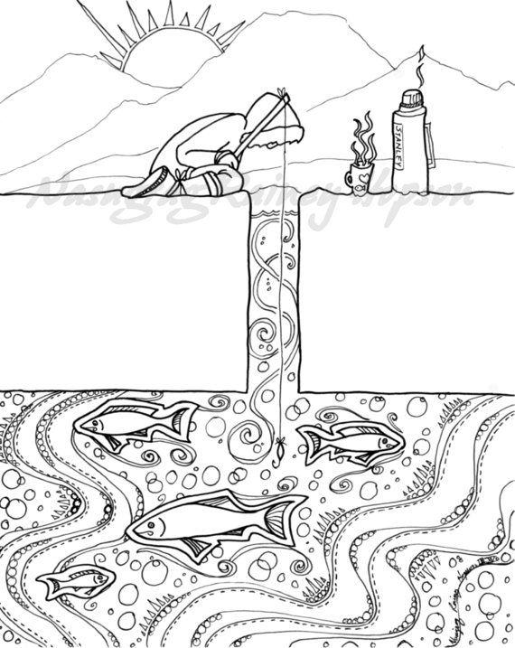 Alaska clipart coloring page. Native inupiaq eskimo hand