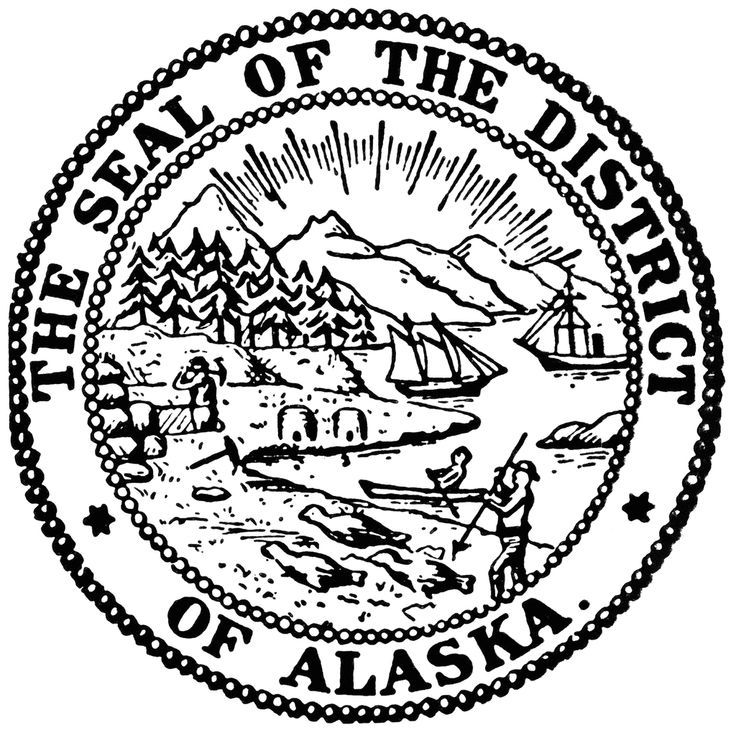 Alaska clipart coloring page. Free pages download clip