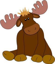 Moose . Alaska clipart cute