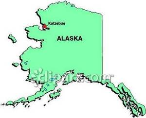 Alaska clipart cute. State of showing katzebue
