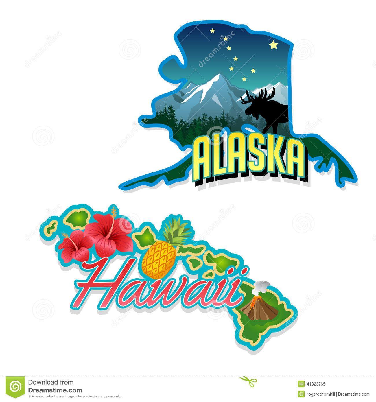 And hawaii become the. Alaska clipart cute