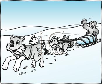 Husky clipart sled dog. Dogs cartoon free