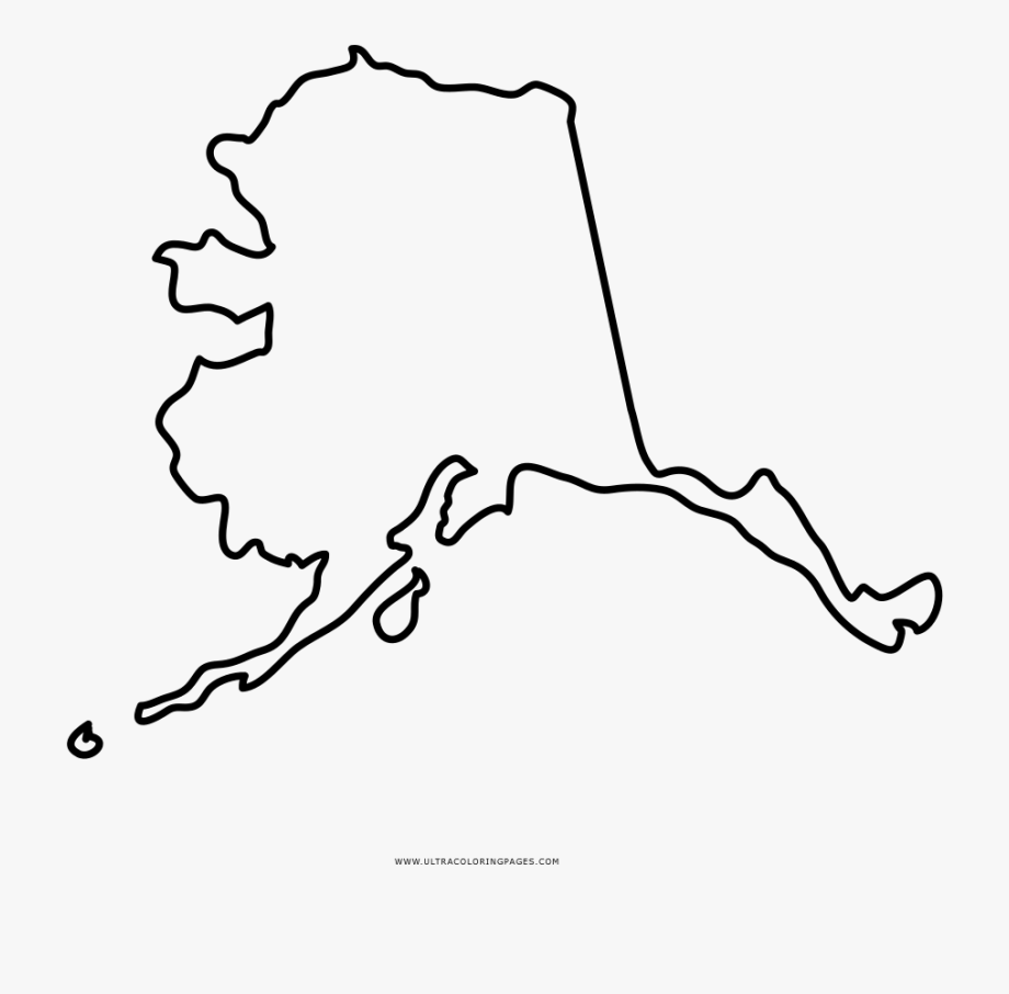 State outline coloring pages. Alaska clipart drawing
