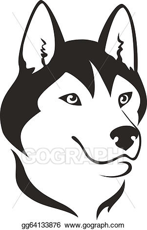 Vector dog illustration gg. Alaska clipart husky