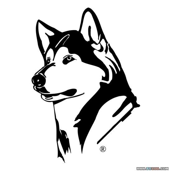 Alaska clipart husky. Black and white dog