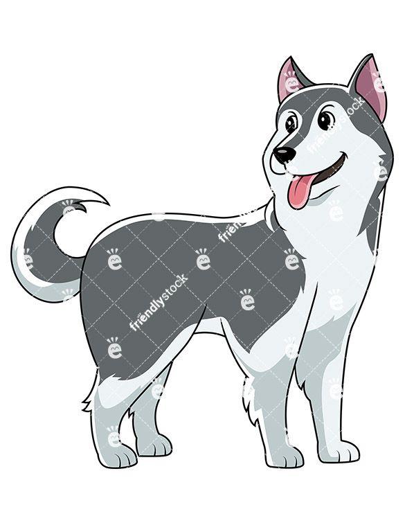 Cute siberian dog looking. Husky clipart animal alaska