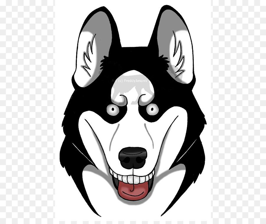 Siberian dog breed puppy. Bones clipart husky