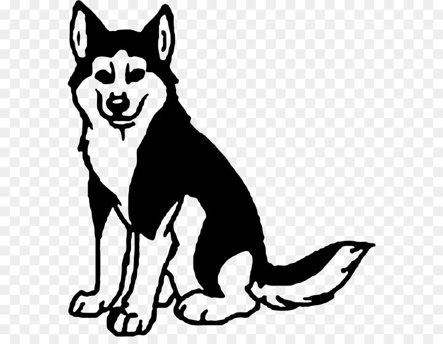 Husky clipart. Siberian alaskan malamute clip