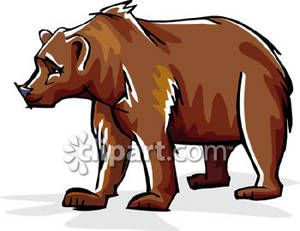 Grizzly bear free clip. Alaska clipart illustration