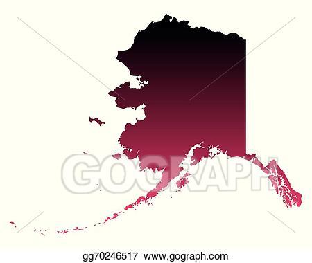 Vector stock map of. Alaska clipart illustration