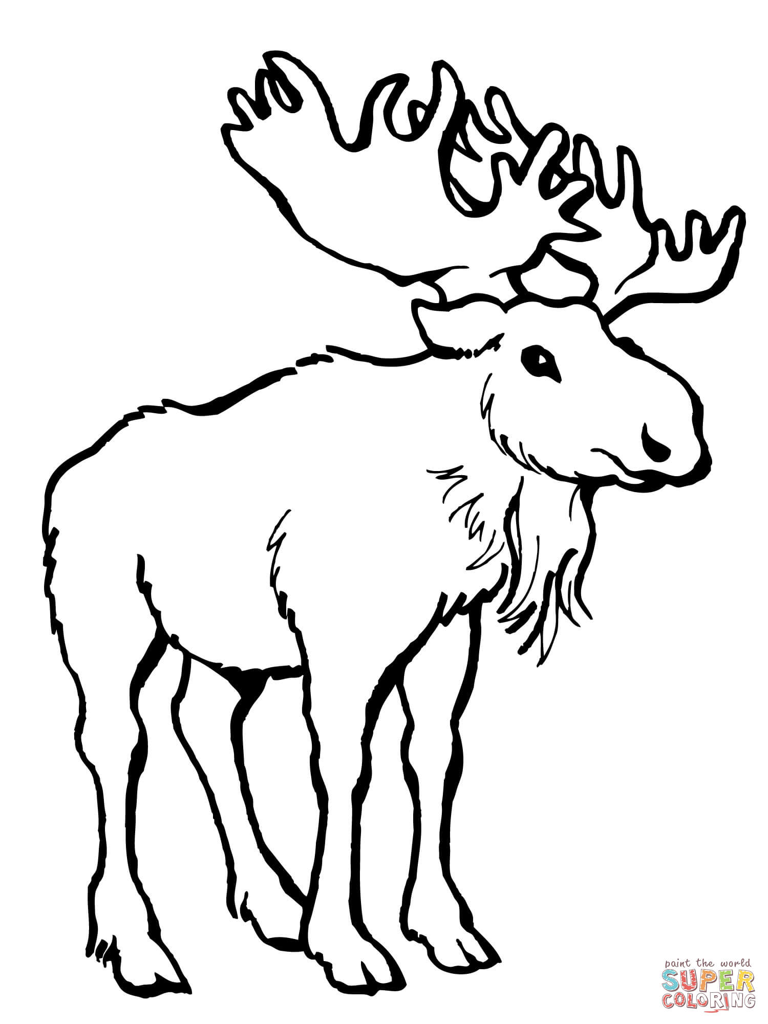 Alaska clipart moose alaska. Deer coloring page free