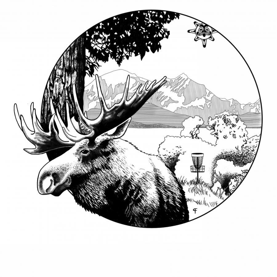 Disc golf championships association. Alaska clipart moose alaska