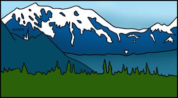 Free landforms clip art. Alaska clipart mountains