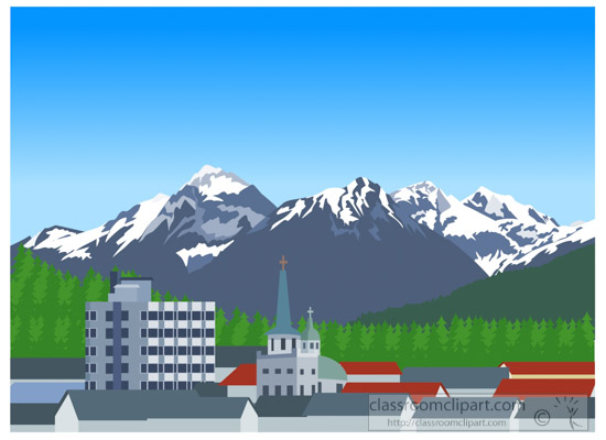 Alaska clipart mountains. Downtown sitka classroom downtownsitkaalaskaclipartjpg