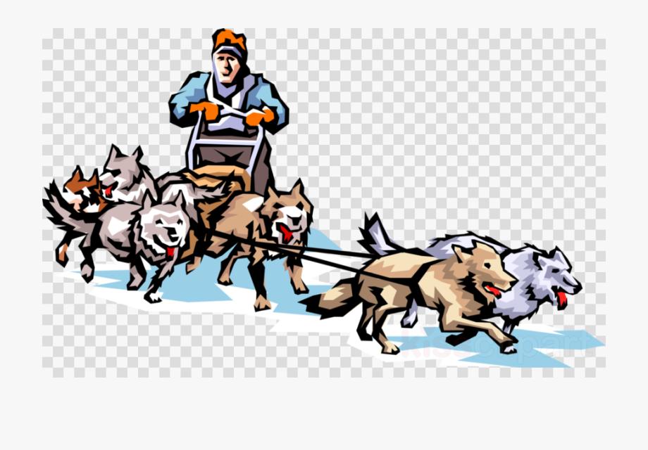 Sleigh clipart dog. Alaska huskey sled clip