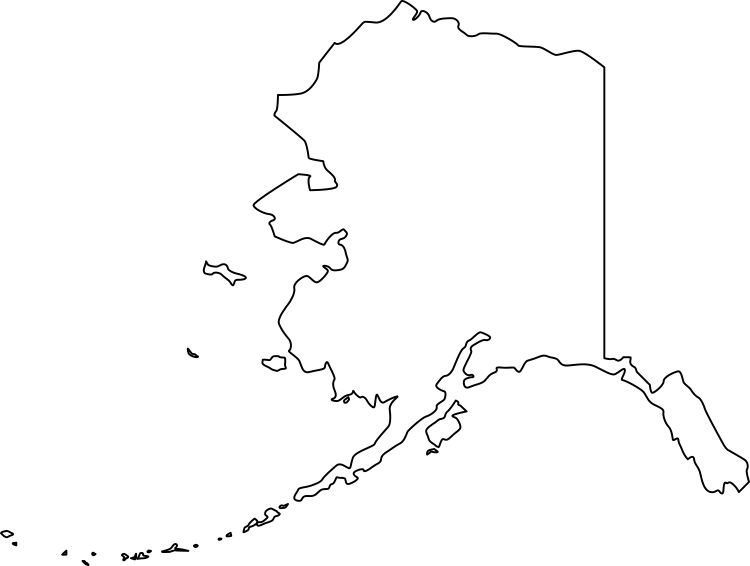 Alaska clipart outline. Map pencil and in