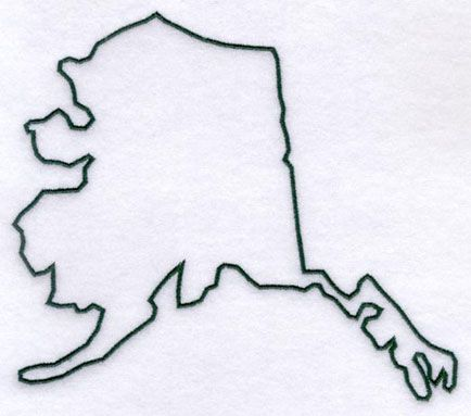 Machine embroidery designs at. Alaska clipart outline