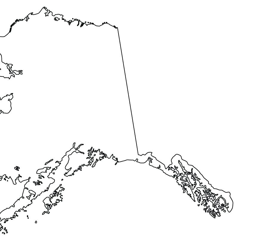 Alaska clipart outline. To us county maps