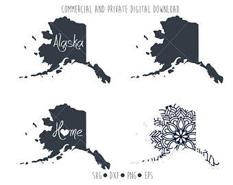 Etsy . Alaska clipart outline