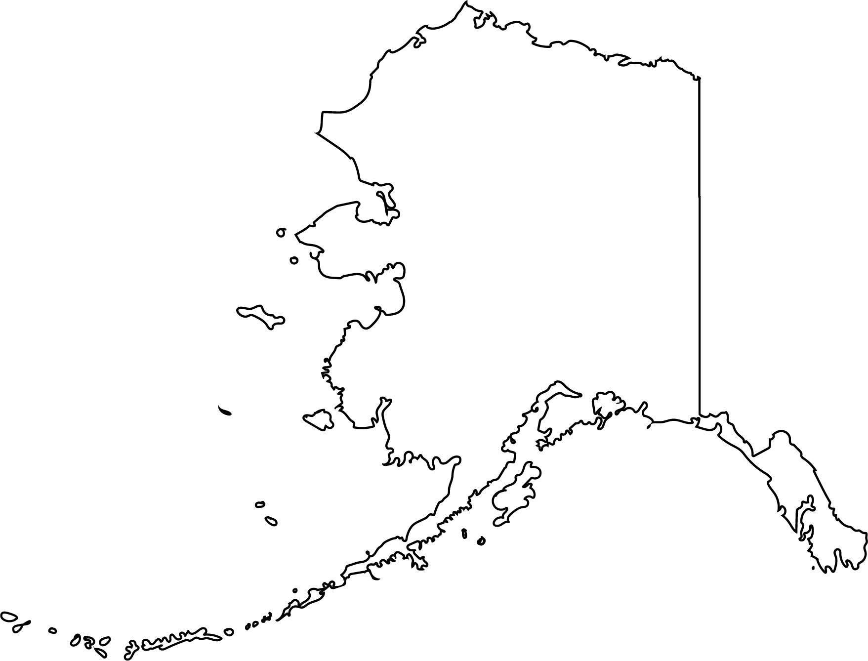 Alaska clipart outline. Vector state svg png