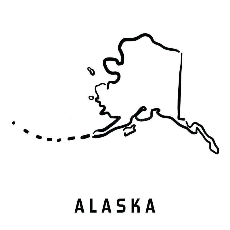 Collection of free download. Alaska clipart outline