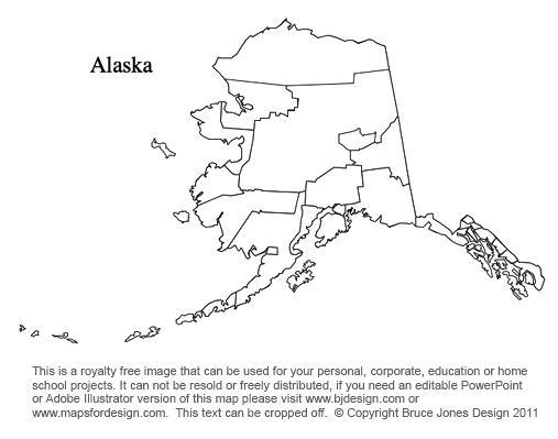 To us county maps. Alaska clipart printable