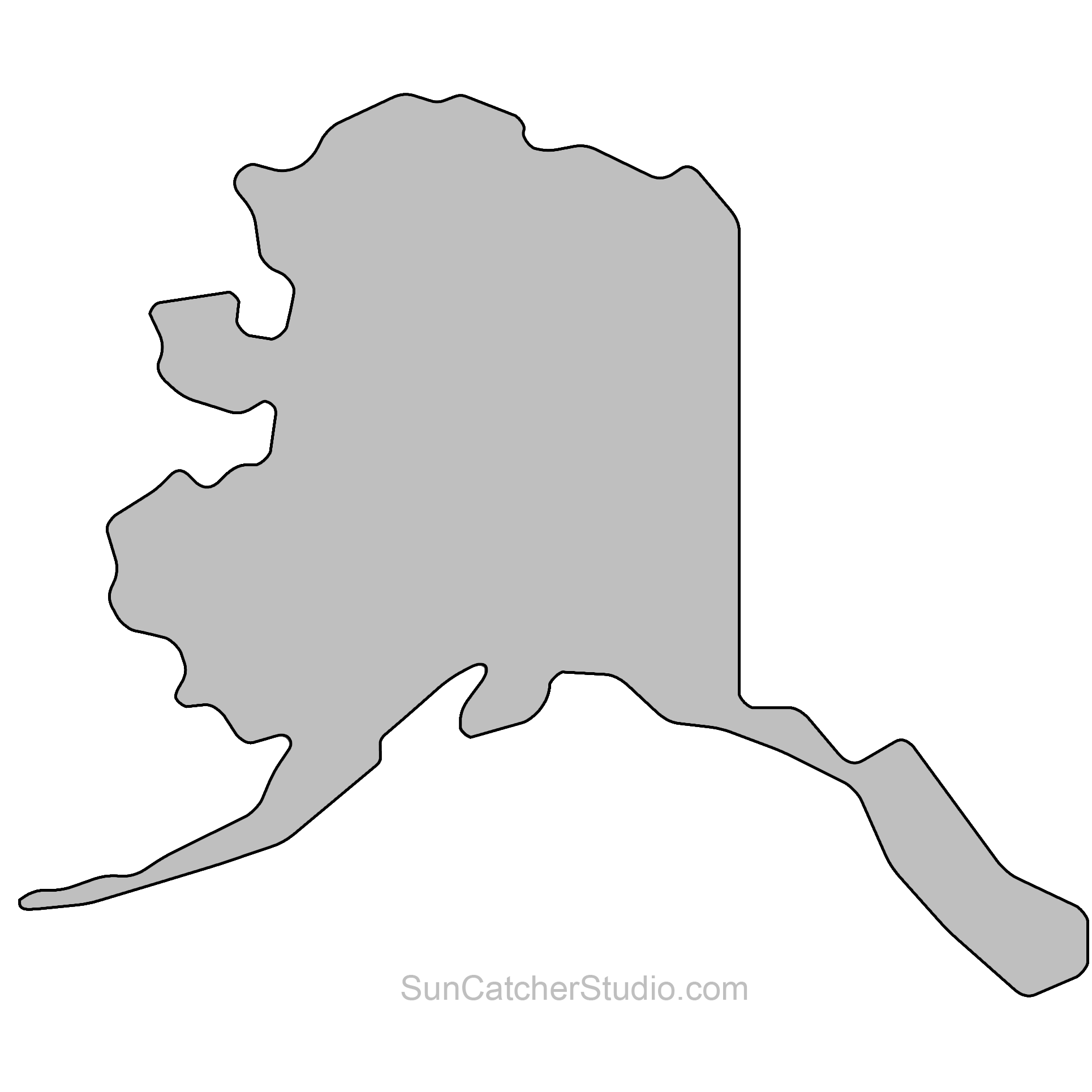 Alaska clipart printable. State outlines clip art