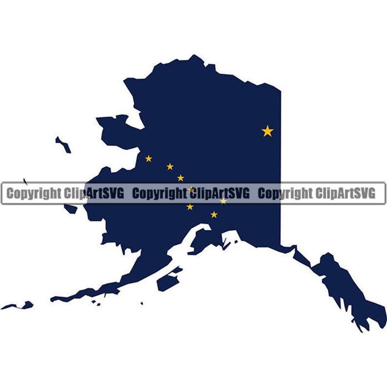 Alaska clipart printable. State flag shape map
