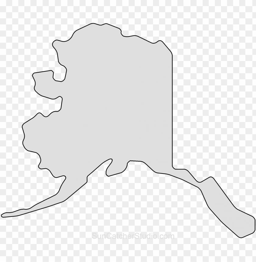 Map outline png state. Alaska clipart shape